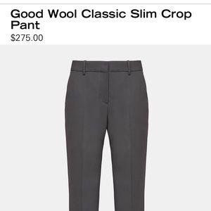 Theory wool- blend crop slacks